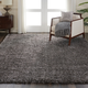 Nourison Luxe Shag Charcoal Gray 8'x10' Large Rug