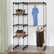 Honey Can Do Free Standing Double Rod Wardrobe with Shelves