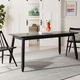 Carrie Black Rectangular Dining Table