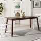 Carrie Walnut Rectangular Dining Table