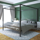 Atwater Living Cara Metal Canopy Bed King