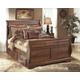 Timberline Queen Sleigh Bed with Under Bed Storage