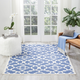 Nourison Waverly Sun N' Shade Blue 5'x8' Area Rug