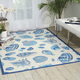 Nourison Waverly Sun N' Shade White and Blue 5'x8' Area Rug
