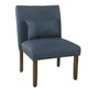 HomePop Parker Accent Chair and Pillow - Navy Blue