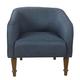 HomePop Traditional Barrel Chair - Navy Blue