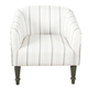HomePop Tradional Barrel Chair - Dove Gray Stripe