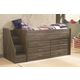 Juararo Twin Loft Bed with Drawer Storage