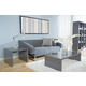 Abby Abby Square Side Table in High Gloss Gray
