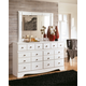 Weeki Dresser and Mirror
