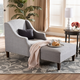 Baxton Studio Modern Upholstered Chaise Lounge