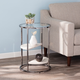 Terra Round Side Table with Faux Stone