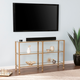 Arryn Metal/Glass 3-Tier Console Table/Media Stand - Silver