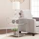 Hampta Glam Mirrored Side Table - Chrome