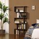 Industrial 5-Tier Wooden Bookcase