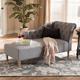 Baxton Studio Modern Upholstered Chaise Lounge