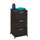 Honey-Can-Do Double Woven 3-Drawer Storage Organizer Chest