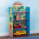 Delta Children Sesame Street Wooden Playhouse 4-Shelf Bookcase for Kids
