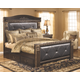 Coal Creek King Mansion Bed with Storage