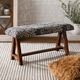 Home Accents  Black Traditional Upholstered Bench