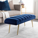 Home Accents  Navy Modern Upholstered Bench