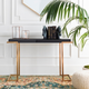 Home Accents  Black Modern Console Table