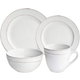 American Atelier Olivia White 16-Piece Dinnerware Set