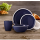 American Atelier Hadleigh Navy 16-Piece Dinner Set