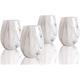 Elle Décor Marble Gray Goblets Set of 4