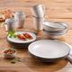 Elle Décor Whitestone 16-Piece Dinnerware Set