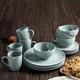 American Atelier Bistro Gray 16-Piece Dinnerware Set