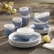 American Atelier Oasis Blue 16-Piece Dinner Set