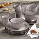 American Atelier Lucienne Black 16-Piece Dinner Set