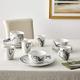 American Atelier Marble Coupe 16-Piece Dinnerware Set