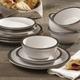 Elle Décor Metallic White 12-Piece Dinner Set