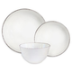 American Atelier Madelyn White 12-Piece Dinner Set