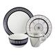 Elle Décor Compass 16-Piece Dinnerware Set