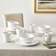 American Atelier Bianca Mistletoe White Stoneware 16-Piece Dinnerware Set