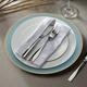 Elle Décor Gold Rim Blue Set of 4 Charger Plates