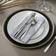 Elle Décor Gold Rim Black Set of 4 Charger Plates
