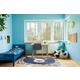Nourison Kids Hudson Blue 4' Freeform Area Rug