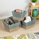Honey-Can-Do Square Nesting Seagrass 2-Color Baskets (Set of 3)