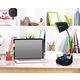 Home Accents LimeLights BLK Organizer Lamp w Device Holder & Charging Outlet