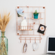 Honey-Can-Do 8-Piece Copper Wire Wall Grid with Storage Accessories