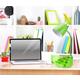 Home Accents LimeLights Gooseneck Organizer Desk Lamp w Device Holder, Green
