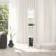 Home Accents Simple Designs Etagere Floor Lamp Orgnzr Shelf & Wine Rack, WHT