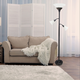 Home Accents Elegant Designs 3Light RBZ Floor Lamp w Scalloped WHT Gls Shade