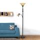 Home Accents Elegant Designs RBZ 2 Light Mother Daughter Floor Lamp w AMB Glass
