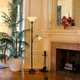Home Accents Elegant Designs RBZ 2 Light Mother Daughter Floor Lamp w WHT Glass