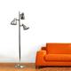 Home Accents Simple Designs Metal 3-Light Tree Floor Lamp, Br Nickel